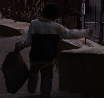 Antananarivo - boy with sack