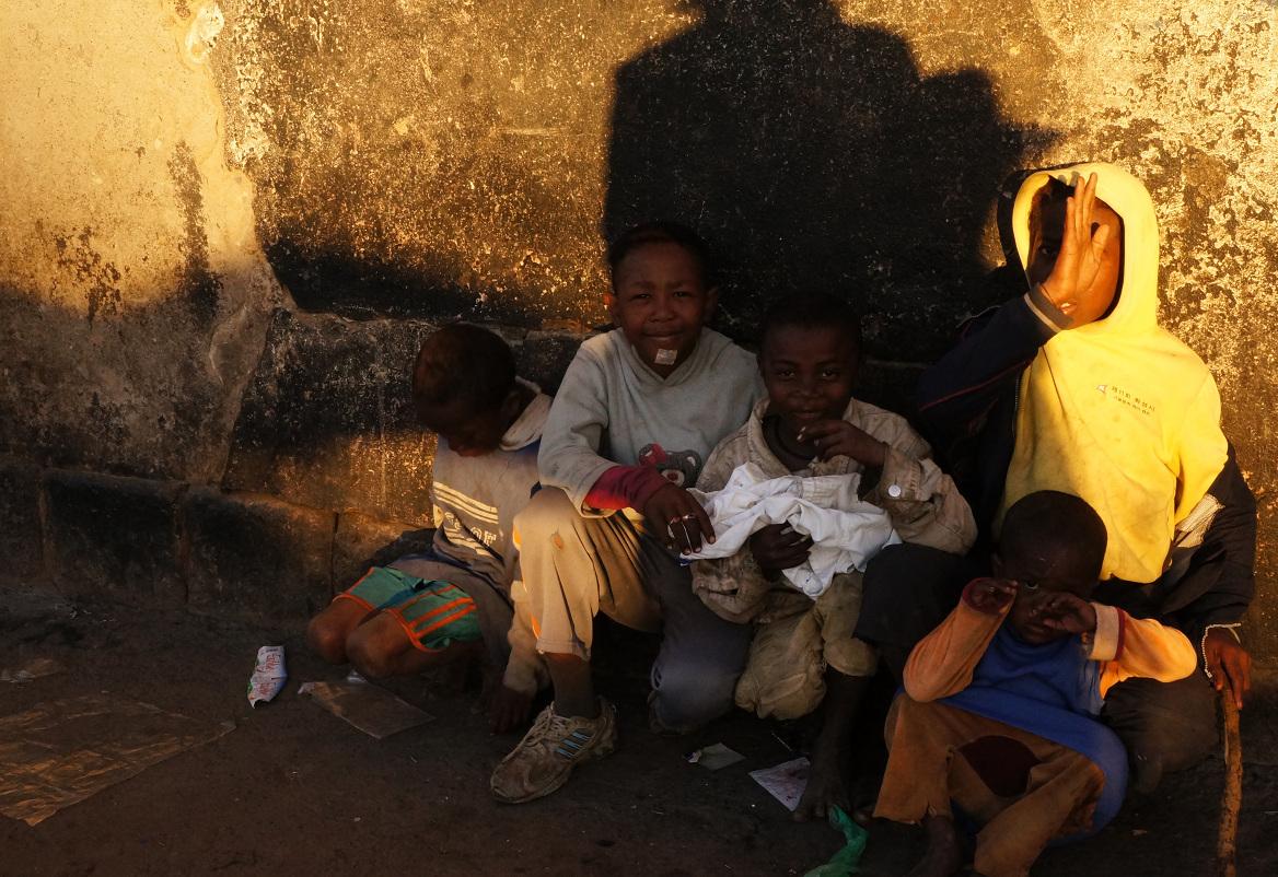 Antananarivo - four street boys
