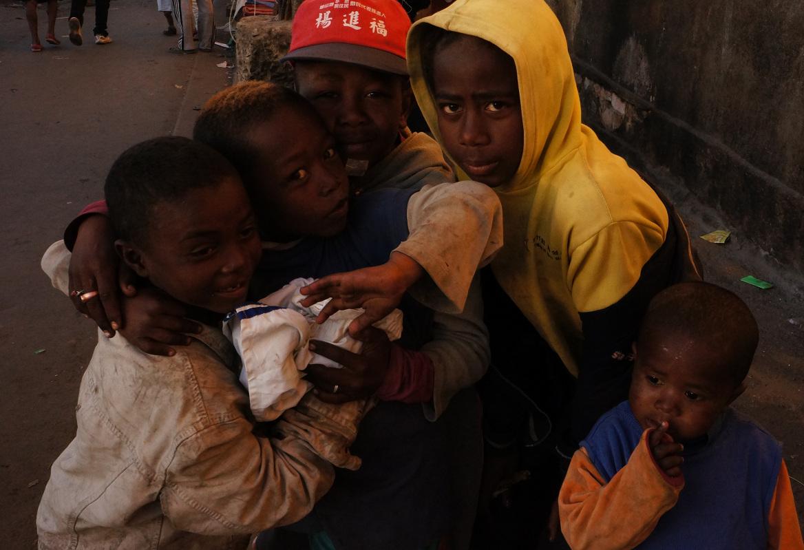 Antananarivo - five street boys
