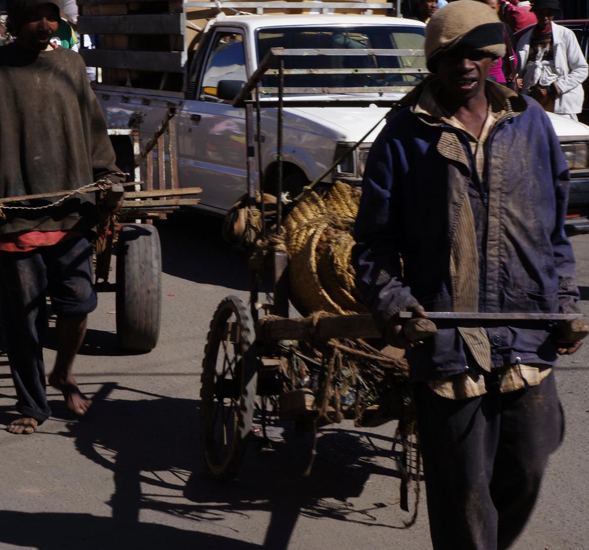 two carters - streets of Antananarivo