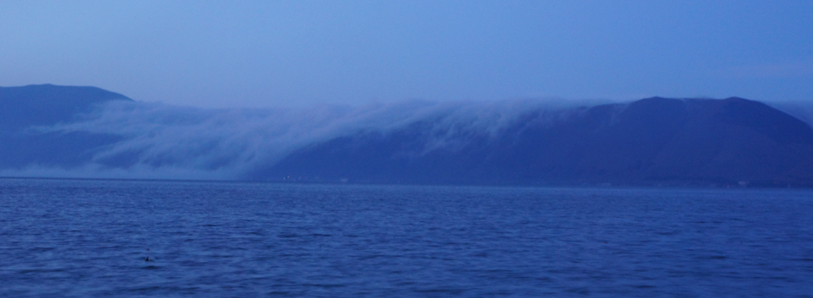 Clouds Falling into Lake Sevan