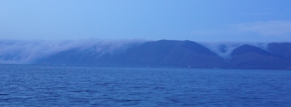 Clouds Falling into Lake Sevan, a minute later