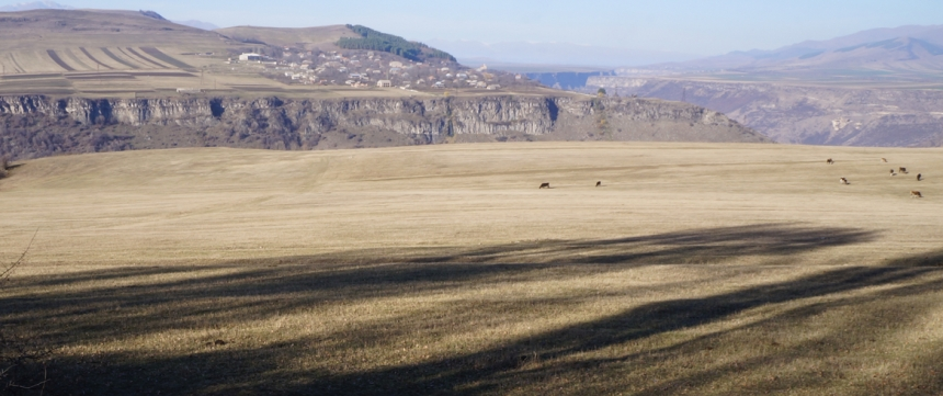 On Dsegh Plateau above Debed River Canyon