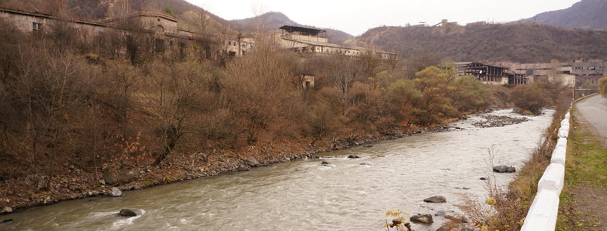 Armenia - Deserted Factories Along Debed Valley Rd