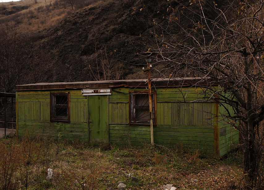 Armenia - Debed Valley - Green Carriage used as House