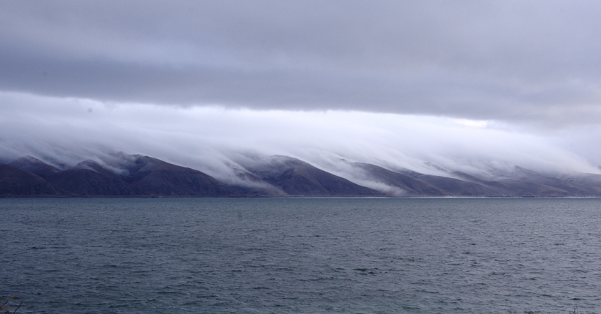 Lake Sevan - Falling Clouds - Approaching Storm