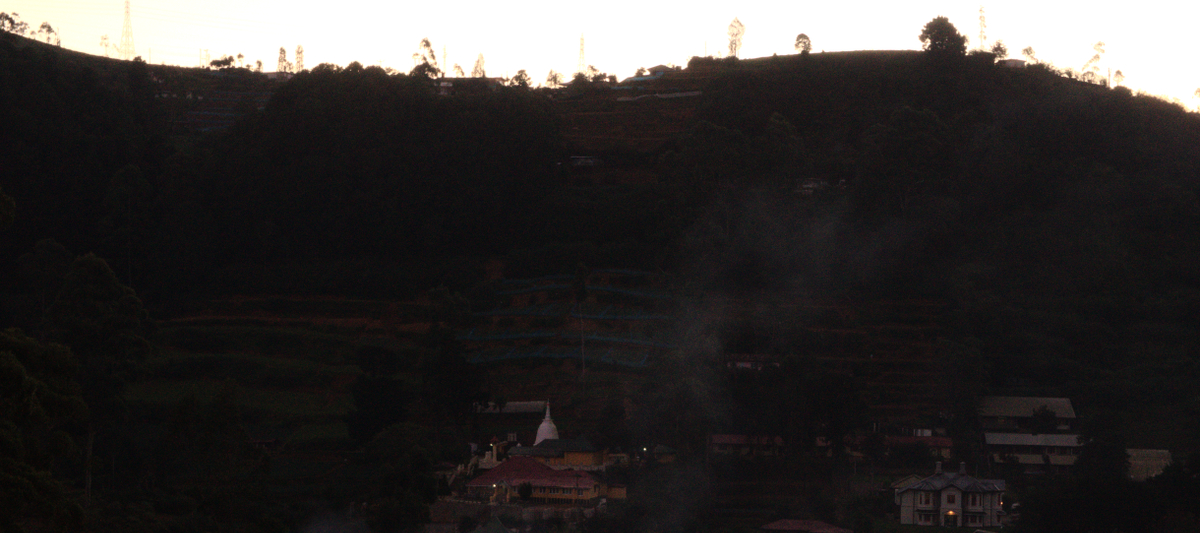 Nuwara Eliya - Smoke Rising from Evening Town
