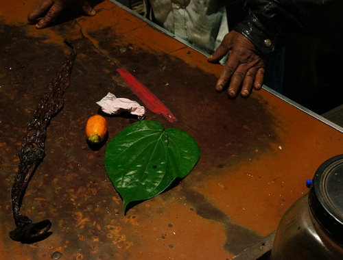Sri Lanka,  Nuwara Eliya, Paan Seller, A simple paan