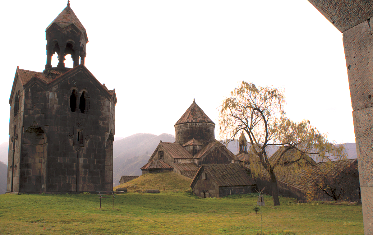 Haghpat - church growing from ground