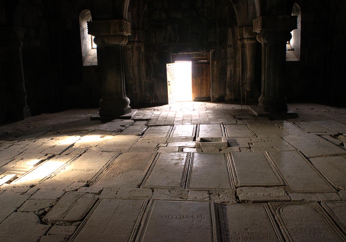 Haghpat Church - entrance stones - graves of saints