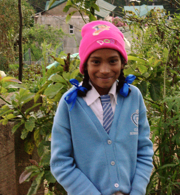 Nuwara Eliya - Schoolgirl in Dora the Explorer Hat