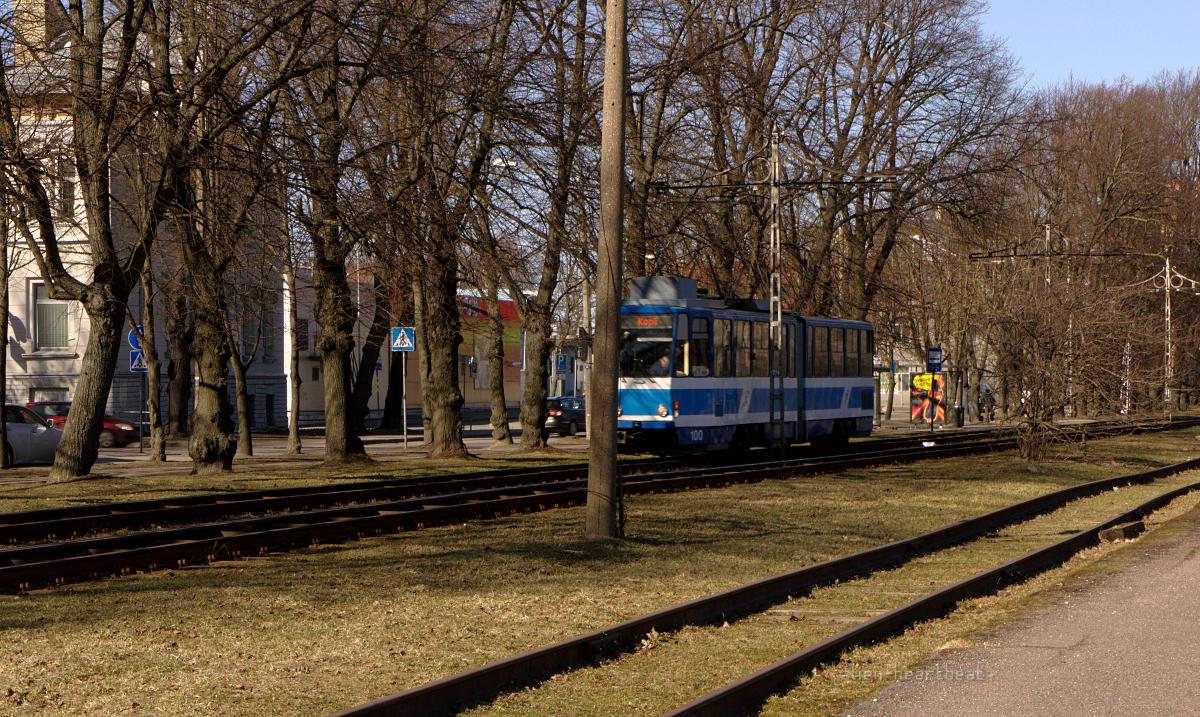 Tallinn - Spring - Tram in a Park